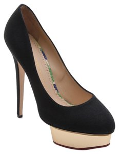 Charlotte Olympia Black, Gold Platforms