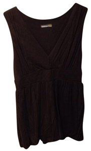 C&C California Sleeveless V-neck Top Chocolate Brown