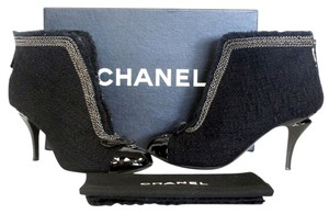 Chanel Cap Toe Espadrille Ballet Cc Black Pumps