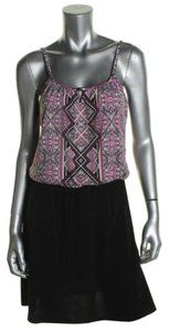 Style & Co short dress Pink Matte Printed (Summer Scarf) Blouson Polyester on Tradesy