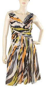 Moschino V-neck Party Bold Bold Stripe Dress