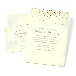 Gold Dot 50ct Invitations & Rsvp Cards