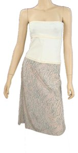Narciso Rodriguez short dress Ivory, Beige, Pink Bodycon Strapless Two-tone Summer on Tradesy