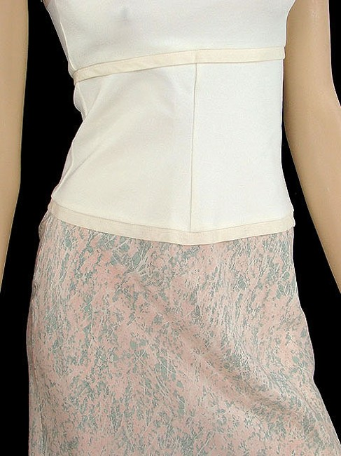 Narciso Rodriguez short dress Ivory, Beige, Pink Bodycon Strapless Two-tone Spring Summer on Tradesy