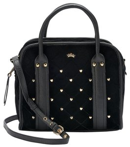 Juicy Couture Studded Convertible Purse Satchel in Black