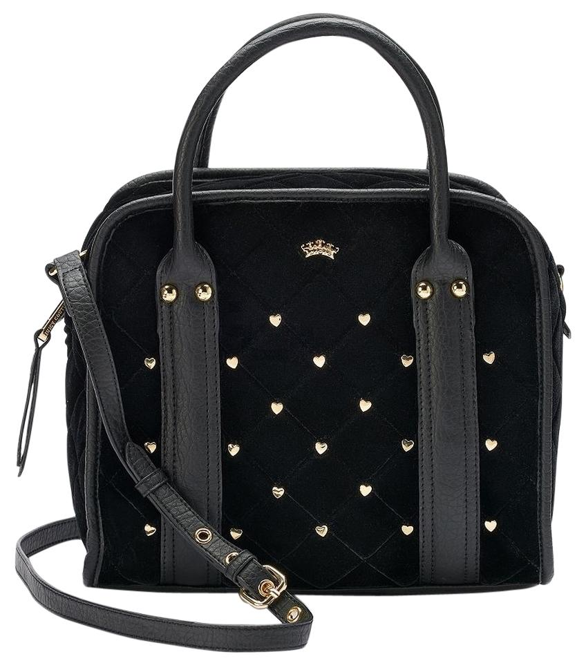 b6b6a71d01 Juicy Couture Studded Convertible Black Satchel - Tradesy
