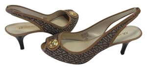 Anne Klein Size 9.50m Brown, Neutral Pumps