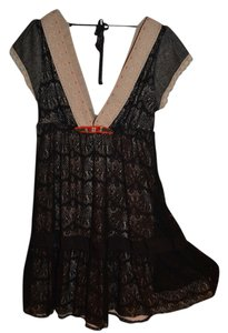 Free People short dress Black Lace Summer on Tradesy