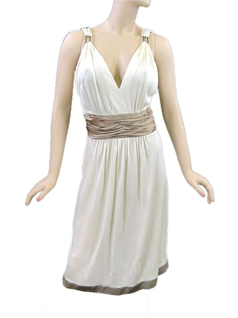 Philosophy di Alberta Ferretti Jersey V-neck Satin Silk Trumpet Gown Dress