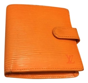 Louis Vuitton Louis Vuitton Auth Bifold Wallet Epi Leather Vintage Orange Wallet