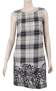 Philosophy di Alberta Ferretti short dress Grey, Ivory, Black Wool Shift Shift on Tradesy