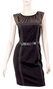 Philosophy di Alberta Ferretti Evening Shift Shift Belted Wool Dress