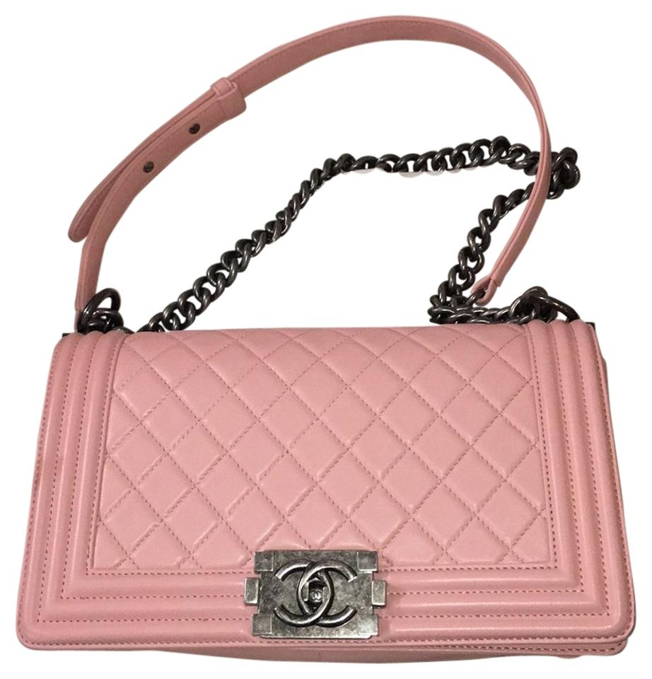 b2ec2c7d4a44 Chanel Boy Medium Leather Light Pink Lambskin Cross Body .