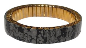Other Snowflake Obsidian Bangle Stretchy Bracelet B053