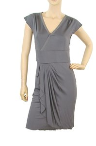 Philosophy di Alberta Ferretti Drape Draped Pleated V-neck Dress