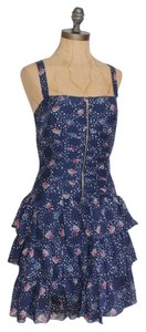 NAF NAF short dress BLUE Tiered Floral Print on Tradesy