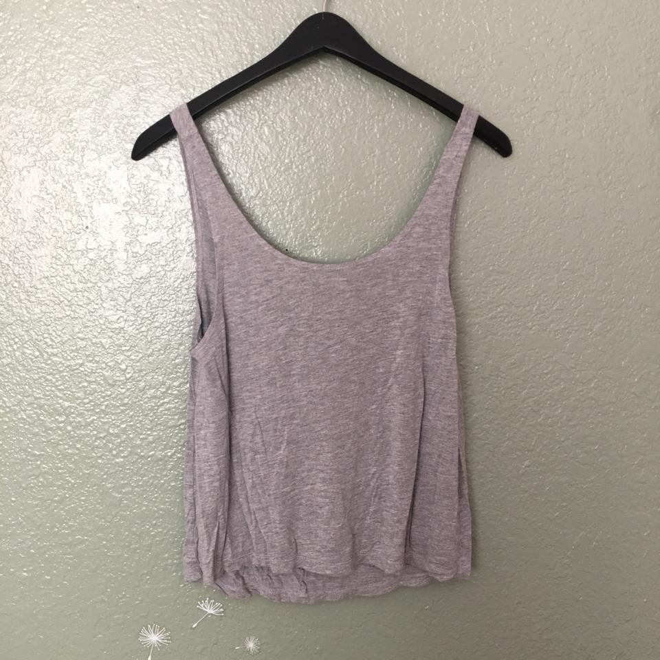 44196f3f ASOS Gray Low Scoop Back Tank Top/Cami Size 2 (XS) - Tradesy