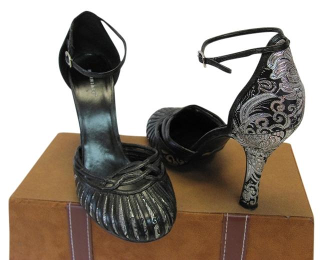Item - Black Silver M Very Good Condition Formal Shoes Size US 7 Regular (M, B)