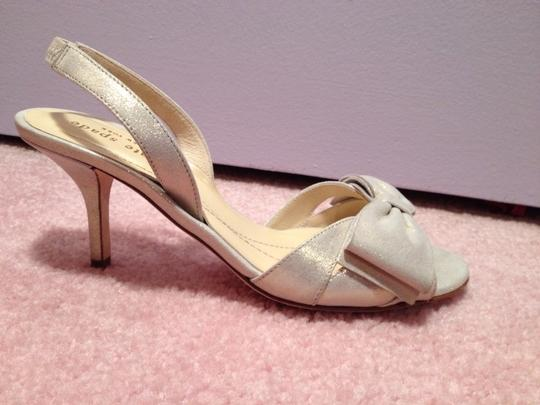 Kate Spade Liquid Gold Suede (Looks More Silver) Size US 6.5 Regular (M, B)