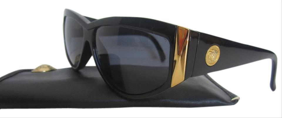 3dce813db03a Versace Black and Gold Gianni Medusa Mod 389 / Col 852 Vintage Sunglasses