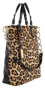 Badgley Mischka Satchel in Cheetah/black