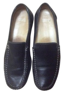 Coach Leather Classic Walkers Black Flats