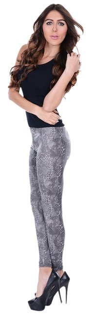 Preload https://item5.tradesy.com/images/betsey-johnson-coated-python-grey-leggings-1073064-0-0.jpg?width=400&height=650