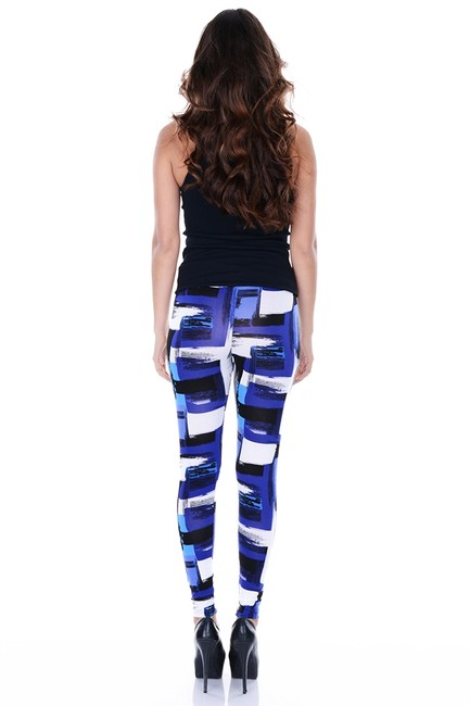 Betsey Johnson Edgy Geometric Multi Leggings