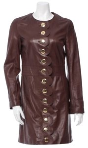 Tory Burch Leather Brown Leather Jacket
