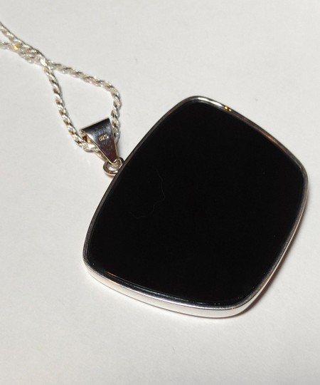 Other Nature's Paintbrush Jasper Gemstone Necklace Sterling Silver A081