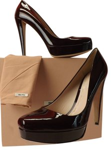 Miu Miu Dark Burgundy Pumps