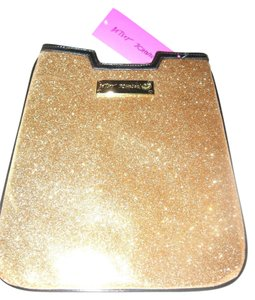 Betsey Johnson NWT Betsey Johnson GOLD glitter eReader mini ipad cover sleeve case