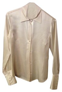 Banana Republic Button Down Shirt Cream / White