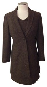 Ann Taylor Herringbone Brown Dress and Coat Set