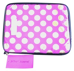 Betsey Johnson NWT BETSEY JOHNSON PINK DISCO DOT E READER IPAD CASE