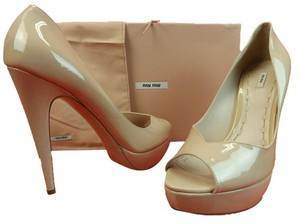 Miu Miu Nude Blush Pumps