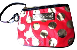 Betsey Johnson Betsey Johnson SMALL Red Gold Wristlet PURSE Disco Dots NWT