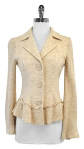 Nanette Lepore Cream Blush Sweater Blazer