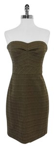 Trina Turk short dress Olive Cotton Strapless on Tradesy