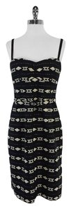 Nanette Lepore short dress Black Cream Print Cotton on Tradesy