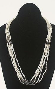 Pearls 24 Strand Freshwater Pearls Hematite Gold Beads Necklace Bj03