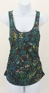 Other Derek Lam Lime Multi Ruched Sides B109 Top Black Blue Green Yellow Purple White Magenta