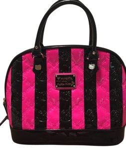 ba814f7cb4 Loungefly Hello Kitty Satchel in Embossed Pink and Black