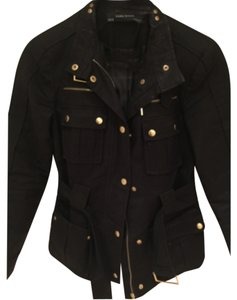 Zara Parka Gold Buttons Trench Coat