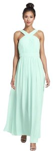 Monique Lhuillier Nordstrom Mint Green Bridesmaid Mint Green Bridesmaids Bridesmaids Bridesmaids Chiffion Chiffon Floor Length Floor Dress