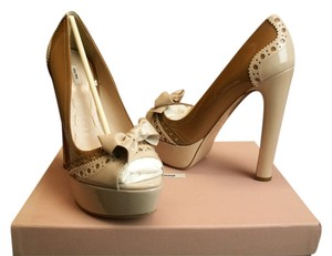 Miu Miu Camel/Blush/Nude Pumps