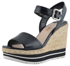 Prada Black / Beige Wedges