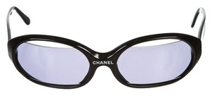 Chanel Chanel Black Cut Out Lens Plastic Sunglasses