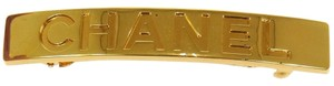 Chanel Auth CHANEL Vintage CC Logos Hair Barrette Gold 97A France Accessories LP10365