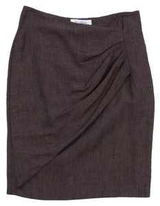 Max Mara Brown Draped Pencil Skirt